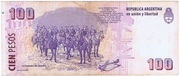 100 Pesos (Convertibles de Curso Legal 2nd issue) -  revers