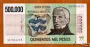 500 000 Pesos – avers