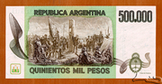 500 000 Pesos – revers