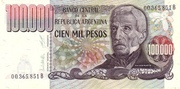 100.000 Pesos -  avers