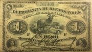 1 Peso (La Provincia de Buenos Ayres) – avers