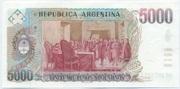 5,000 Pesos argentinos – revers