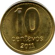 10 centavos (tranche lisse; magnétique) -  revers
