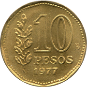 10 pesos (Amiral G. Brown) -  revers