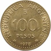100 pesos - José de San Martín – avers