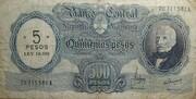 5 Pesos (Overprint on 500 Pesos) – avers