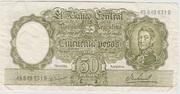 50 Pesos ND (1968- 1969) – avers