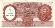 1 Pesos (Overprint on 100 Pesos) – avers