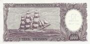 10 Pesos Overprint on 1,000 Pesos – revers