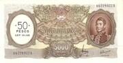 50 Pesos (Overprint on 5,000 Pesos) – avers