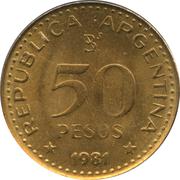 50 pesos (José de San Martín, magnétique) – avers