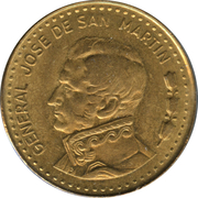 50 pesos (José de San Martín, magnétique) – revers