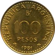 100 pesos (José de San Martín, Magnétique) -  avers