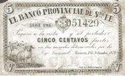 5 Centavos Fuertes – avers
