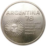 1000 pesos (Coupe du monde de football) – avers