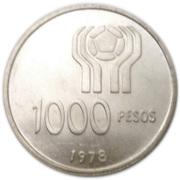 1000 pesos (Coupe du monde de football) – revers