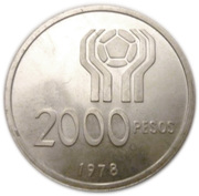 2000 pesos (Coupe du monde football) – revers