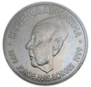 2 pesos (Jorge Luis Borges) -  avers