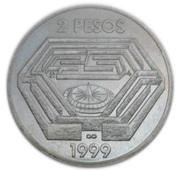 2 pesos (Jorge Luis Borges) -  revers