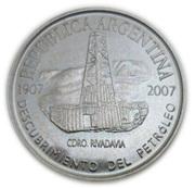 2 pesos (Pétrole argentin) – avers