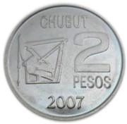 2 pesos (Pétrole argentin) – revers