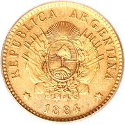 2½ pesos / ½ argentino – avers