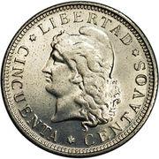 50 centavos (Essai) – revers
