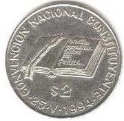 2 pesos (Convention de la Constitution) -  revers