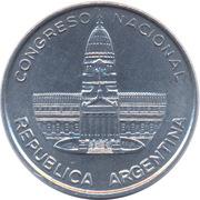 1 peso (Palais du Congrès) -  avers