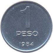 1 peso (Palais du Congrès) -  revers