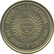 5 centavos (tranche lisse) -  avers