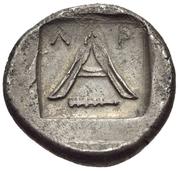 Triobol (Argos) – revers
