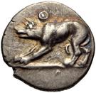 Trihemiobol (Argos) – avers