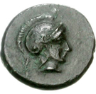 Bronze Æ14 (Argos Amphilochikon) – avers