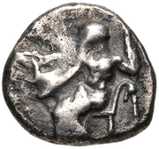 Hemidrachm (Tegea) – avers