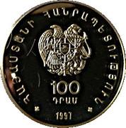 100 drams (Loutre du Caucase) – avers