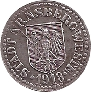 5 pfennig - Arnsberg – avers