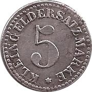 5 pfennig - Arnsberg – revers