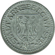 10 pfennig - Arnsberg – avers