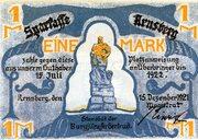 1 Mark (Arnsberg; Sparkasse Arnsberg) – avers