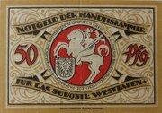 50 Pfennig Arnsbach, Handelskammer – revers