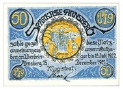 50 Pfennig (Sparkasse) – avers
