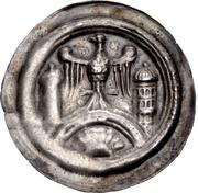 1 brakteat Walter II. (Hettstedt) – avers