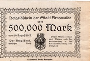 500,000 Mark (Arnswalde) – avers
