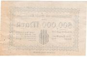 500,000 Mark (Arnswalde) – revers