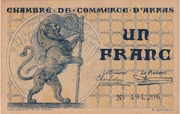 1 franc - Chambre de Commerce d'Arras [62] – avers