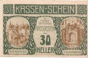 30 Heller (Artstetten) – avers