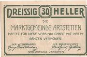 30 Heller (Artstetten) – revers