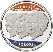 5 Florin - Beatrix (Visite royale) – revers