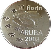 10 Florin - Beatrix (Coquillage) -  revers
